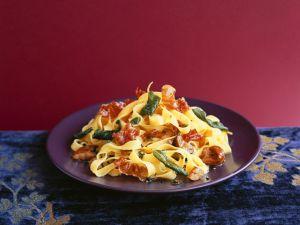 Pasta with Prosciutto and Chestnuts recipe