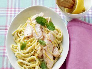 Pasta with Salmon and Lemon Balm Sauce recipe