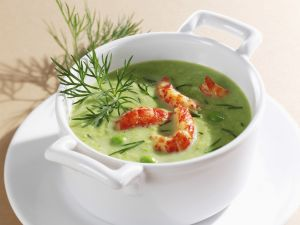 Pea Soup with Crayfish recipe