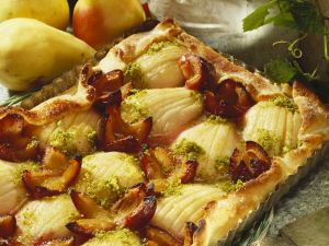 Pear and Plum Cake recipe
