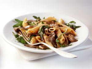 Penne with Veal Mushroom Sauce recipe