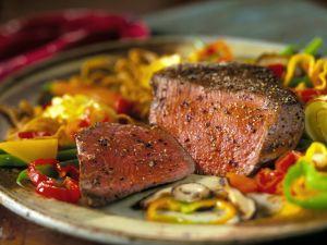 Pepper Steak with Vegetables recipe