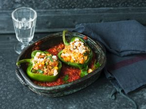 Peppers Stuffed with Pineapple Rice recipe