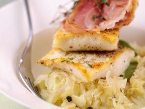 Perch with Bacon and Sauerkraut recipe