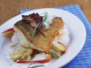 Perch with Creamy Apple Sauerkraut recipe