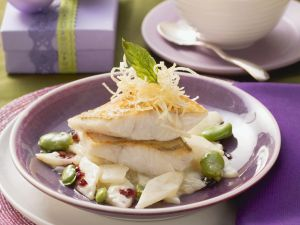 Perch with Red Wine Butter and Vegetables recipe