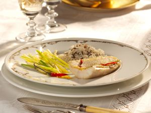 Perch with Wasabi and Vegetables recipe