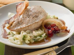 Pheasant Breast with Cabbage, Bacon and Cranberries recipe