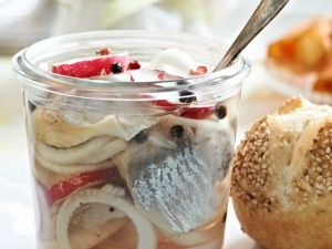 Pickled Herring with Onions and Radishes recipe