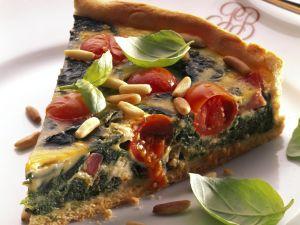 Pignoli and Spinach Tart recipe