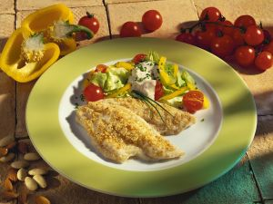 Plaice Fillets with Salad recipe