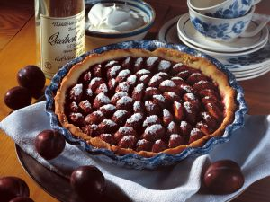 Plum Pie with Whipped Cream recipe