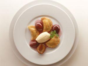 Poppy Dumplings with Plums recipe