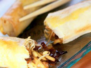Pork and Mushroom Spring Rolls recipe