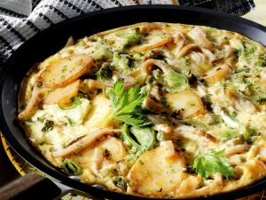 Pork and Potato Frittata with Leeks recipe