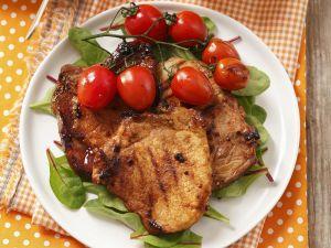 Pork Loin with Salad recipe