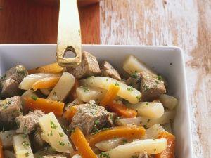 Pork Stew with Carrots and Kohlrabi recipe