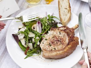 Pork with Mixed Leaf Salad recipe
