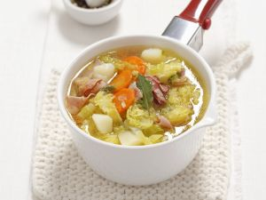 Potato and Cabbage Stew with Pancetta recipe