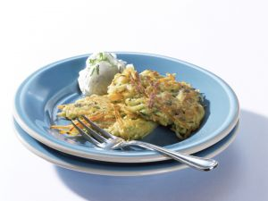 Potato and Carrot Fritters recipe