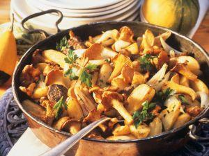 Potato and Chanterelle Mushroom Pan with Beef recipe