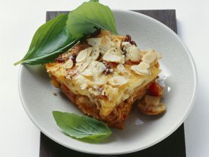 Potato and Ground Meat Gratin with Almonds recipe