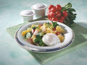 Potato and Radish Salad with Poached Eggs recipe