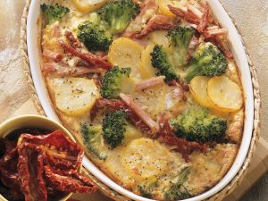 Potato, Broccoli and Smoked Pork Casserole recipe