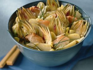 Potato Salad with Artichokes and Fish recipe