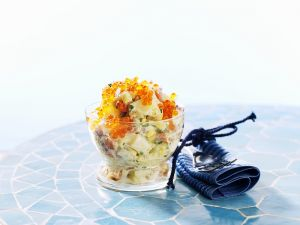 Potato Salad with Smoked Salmon recipe