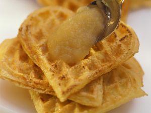 Potato Waffles with Applesauce recipe
