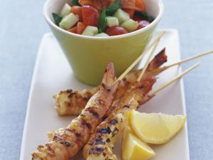 Prawn Skewers with Salad recipe
