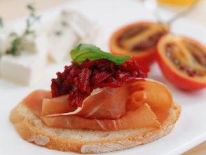 Prosciutto and Beet Ciabatta Toasts recipe