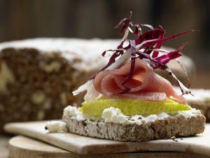 Prosciutto and Cream Cheese Sandwiches recipe