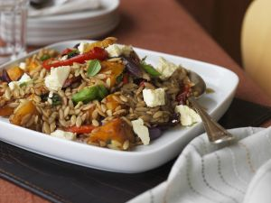 Pumpkin, Feta, and Orzo Salad recipe