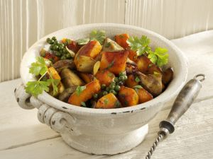 Pumpkin with Porcini Mushrooms and Garlic recipe