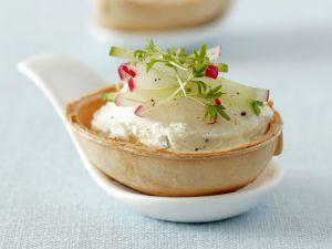 Quark Dip with Radish, Cucumber and Cress recipe