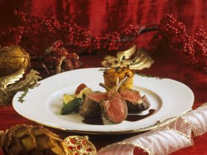 Rack of Lamb with Quark Muffins and Vegetables recipe