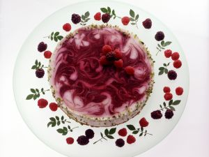 Raspberry Blackberry Cream Torte recipe