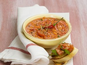 Red Lentil Soup with Bruschetta recipe
