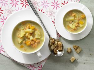 Red Lentil Soup with Croutons recipe