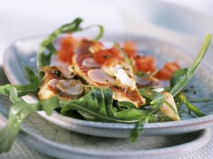 Red Mullet on Arugula with Tomato Vinaigrette recipe