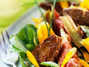 Rhubarb and Fig Salad with Duck Liver recipe
