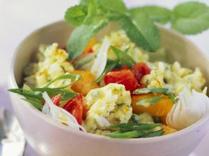 Rice and Mango Salad with Tomatoes recipe