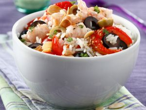 Rice, Shrimp, and Olive Salad recipe