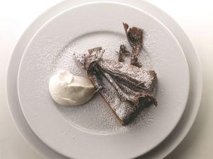 Rich Chocolate Cake with Sweet Creme Fraiche recipe