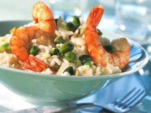 Risotto with Shrimp and Pistachios recipe