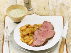 Roast Beef with Fried Potatoes and Remoulade recipe