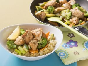 Roast Chicken with Vegetables on Couscous recipe