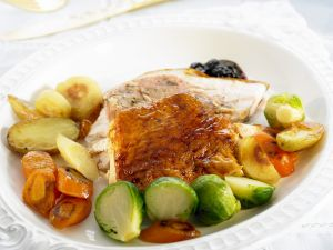 Roasted Turkey with Roasted Vegetables recipe